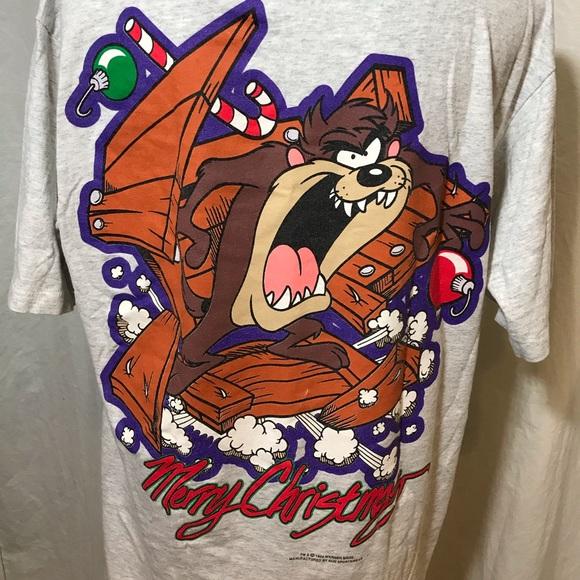 Looney Tunes Vintage 1994 Christmas Taz T-Shirt LG